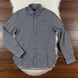 John Varvatos Gingham Slim Fit Button Up Shirt